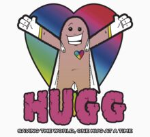 Hugg - Saving the world, one hug at a time. One Piece - Short Sleeve