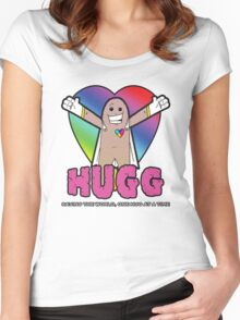 Hugg - Saving the world, one hug at a time. Women's Fitted Scoop T-Shirt