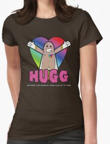 Hugg - Saving the world, one hug at a time. Womens Fitted T-Shirt