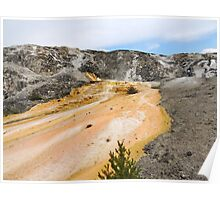 Bright Colors of Mammoth Hot Springs Poster