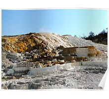Yellowstone Mammoth Hot Springs Poster