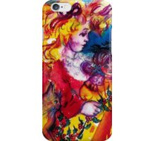 LITTLE GIRL WITH CHRISTMAS GIFTS , PRETTY DOLL AND CAT   iPhone Case/Skin