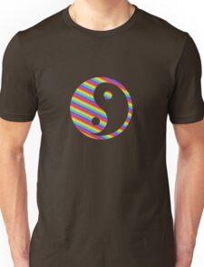 rainbow yin yang Unisex T-Shirt