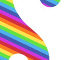 rainbow yin yang Sticker