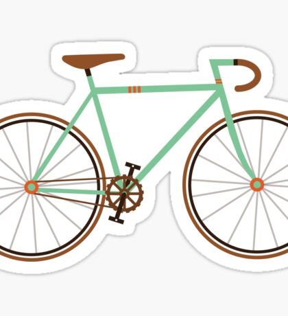 Green Fixie Sticker