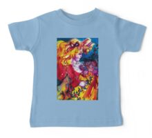 LITTLE GIRL WITH CHRISTMAS GIFTS , PRETTY DOLL AND CAT   Baby Tee
