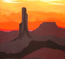 Monument Valley Sunset I by texasrose34