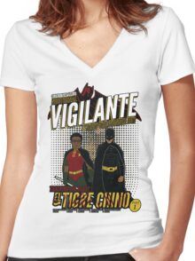 Greendale's Nocturnal Vigilante Women's Fitted V-Neck T-Shirt