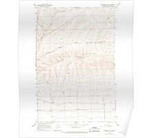 USGS Topo Map Washington State WA Monument Hill 242390 1966 24000 Poster