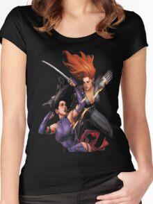 Psylocke vs. Black Widow Women's Fitted Scoop T-Shirt