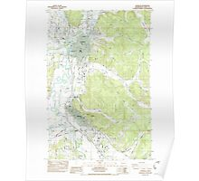USGS Topo Map Washington State WA Centralia 239703 1985 24000 Poster