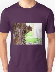 Squirrel Peeking Around A Tree T-Shirt