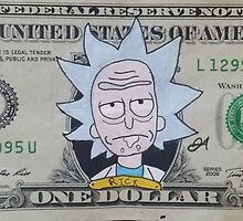 Rick dollar bill by boostedartwork