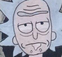 Rick dollar bill Sticker
