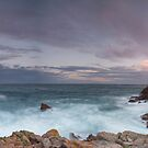 """Summer Sunset at La Corbiere, Jersey"" by Bradley Shawn  Rabon"