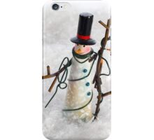 Christmas Snowman in Snow iPhone Case/Skin