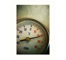 Old thermometer Art Print