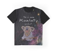 Happy Koala in Space Graphic T-Shirt