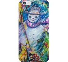 SNOWMAN WITH CHRISTMAS TREE, OWL AND TOYS iPhone Case/Skin
