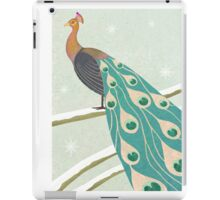 winter christmas peacock iPad Case/Skin