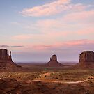 Monument Valley at dusk by Philip Kearney