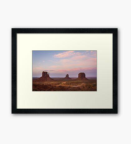 Monument Valley at dusk Framed Print