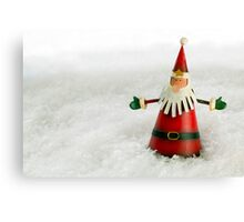 Father Christmas in Snow Canvas Print