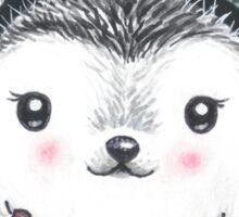 Winter Hedgehog - Watercolor - Willow Heath Sticker