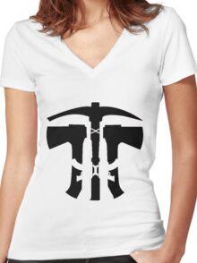 Rust Axe Pickaxe AK  Women's Fitted V-Neck T-Shirt