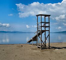 State of the art lifeguard station. Greek style. by ronsaunders47