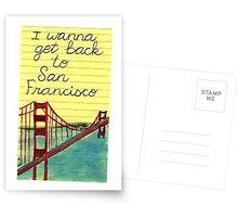 I wanna get back to San Fran Postcards