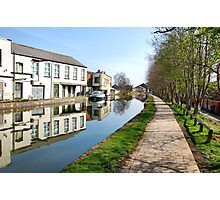 Canalside mirror reflections. Photographic Print
