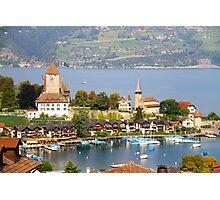 Spiez on Thun lake - Swiss Photographic Print