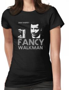 Jimmy Whisper's Fancy Walkman Womens Fitted T-Shirt