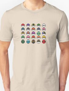Pixel Pokeball Design T-Shirt