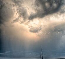 Storm over Portland Island by toby snelgrove  IPA
