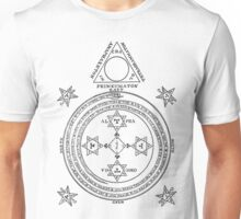 Solomon Circle Goetia Black n White Unisex T-Shirt