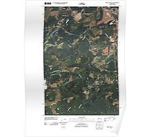 USGS Topo Map Washington State WA Shelton Valley 20110418 TM Poster