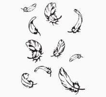 Feathers Falling T-Shirt Kids Tee