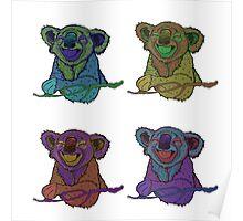 Psycadelic Koalas Design Poster
