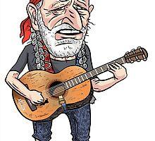 Willie Nelson by MacKaycartoons