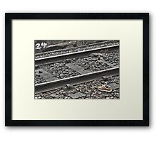 Shoe - When & Who? Framed Print