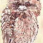 Tawny Frogmouth baby by ToniBlake