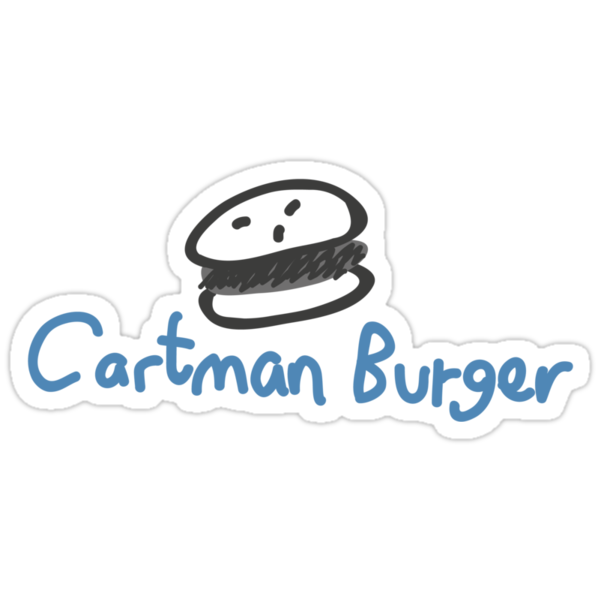 cartman burger by timmehtees