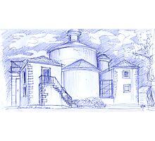Ermida de Sto. Amaro sketch Photographic Print