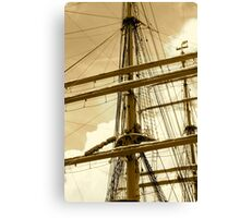 Barque Eagle Mast Canvas Print