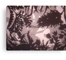 Constructed Flora Canvas Print