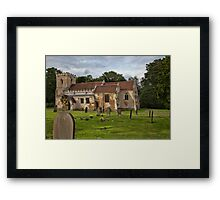 The Church of St. Michael and All Angels, Brodsworth, South Yorkshire, England Framed Print