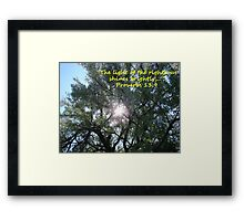 """""""Proverbs 13:9""""  by Carter L. Shepard Framed Print"""
