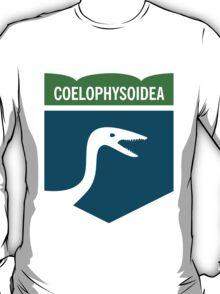 Dinosaur Family Crest: Coelophysoidea T-Shirt